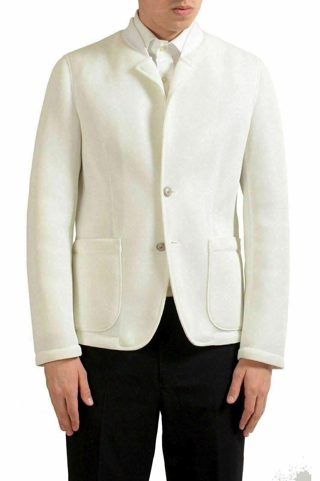 Just Cavalli Men's Two Button White Blazer Sport Coat US 38 IT 48