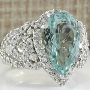 ELEGANT!! Argent 925 Handmade Turkish Jewelry Blue Sapphire Lady Anneaux