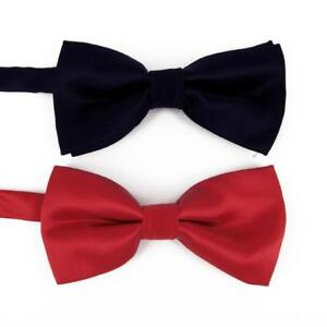 fef3efb4fdc4 Tuxedo New Year Satin Red Black Dickie Bow Tie Two Layer Formal ...