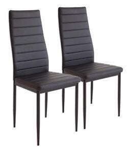 Albatros 2862 Milano - Set di 2 sedie da Pranzo Nero | eBay