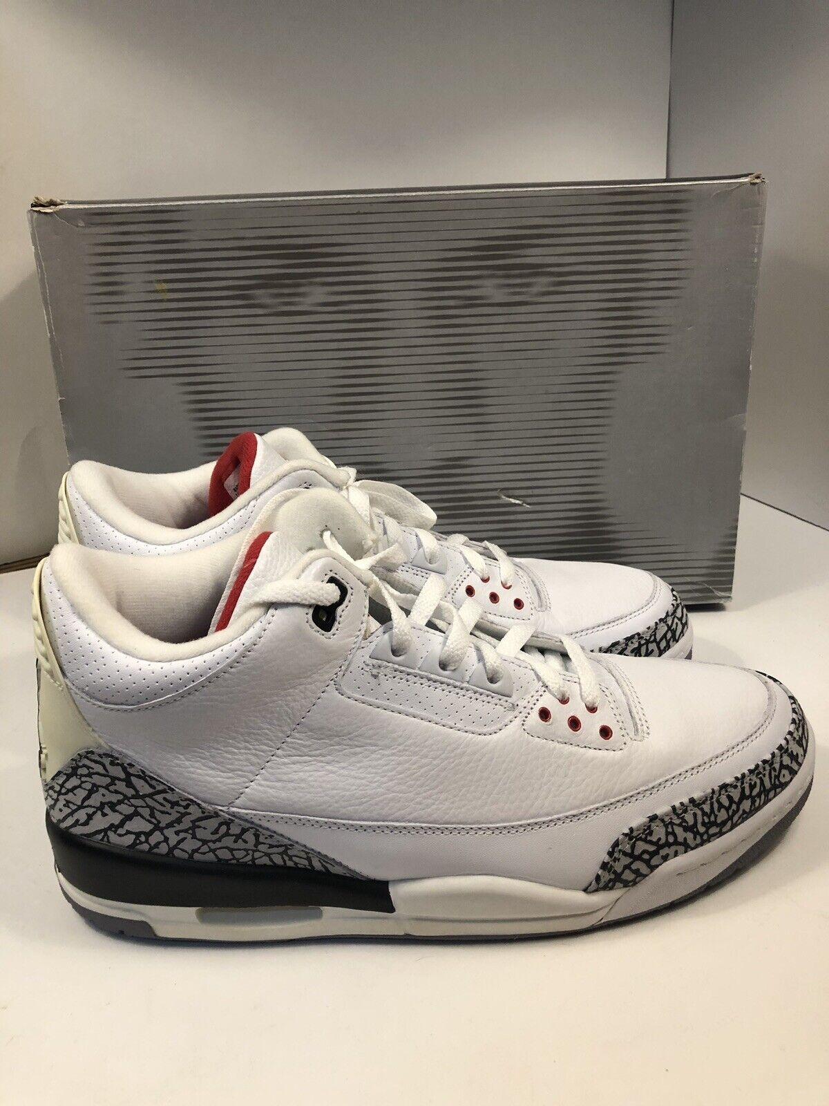 8fcde779cc0b6d RARE 2003 Nike Air Air Air Jordan 3 White Cement Size 13 136064-102 VNDS