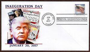 TRUMP-INAUGURATION-First-Day-Cover-Washington-D-C-1-20-17-Inaugural-Postmark-FDC