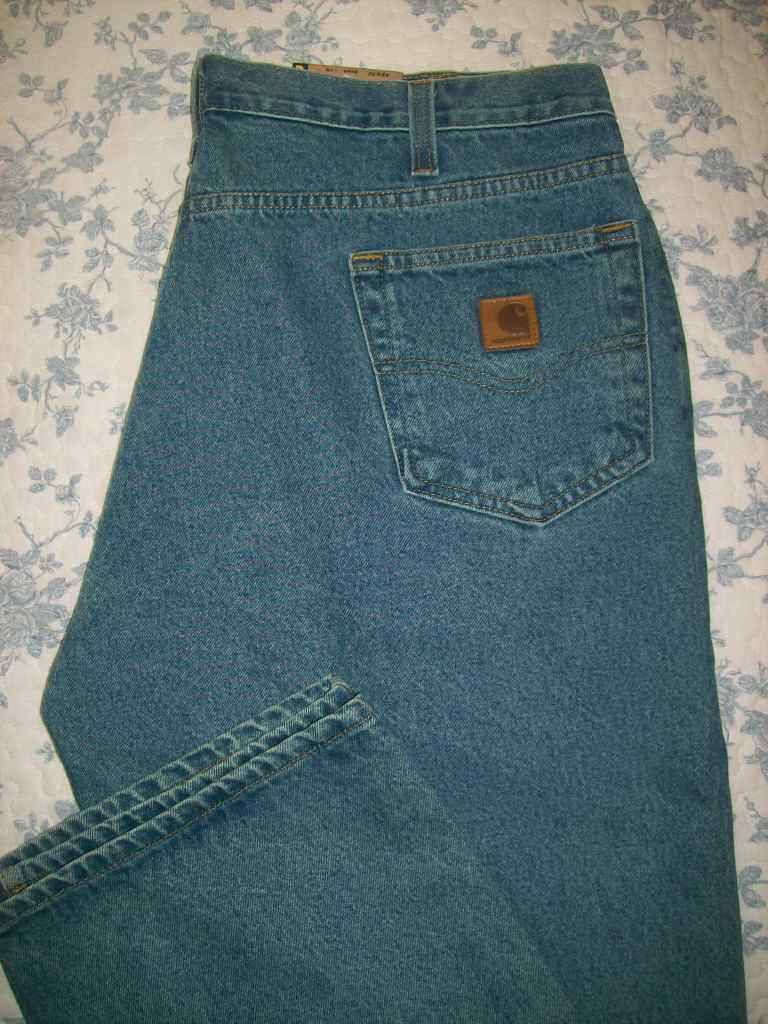 Carhartt Relaxed Fit 42x32 Mens Jeans 42 x 32 Faded bluee NWT Straight Leg
