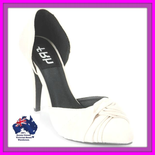 SIZE 5.5 Women's shoes small size high heel shoes beige cream color shoes