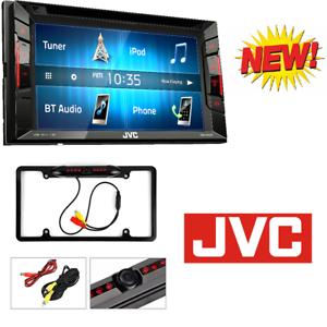 """JVC Double Din Bluetooth Car Stereo 6.2"""" Touchscreen W/ Rearview Backup Camera"""