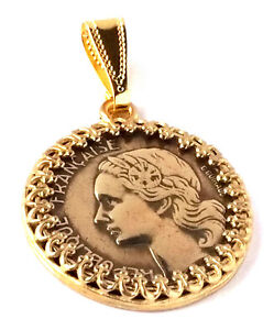 France-Jewelry-10-Francs-Coin-Pendant-French-Coin-Jewelry-France-Coin-World-Coin
