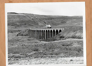 Cumbrian-mountain-Express850-Lord-Nelson-ribbleshead-Viaduct-1984-10-034-x8-034-photo
