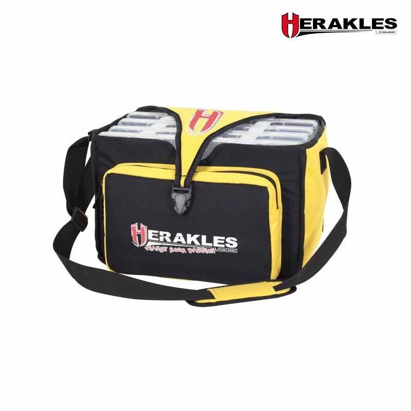 Herakles Prime borsa porta attrezzature pesca spinning nero e giallo nuovo