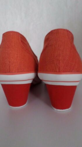 even /& ODD  Keilsneaker  Keilabsatz-Sneaker in Turnschuhstyle Orange Gr.38 NEU