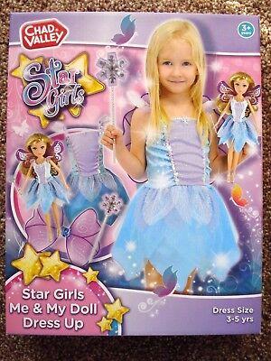 """*** Nuovo *** """"cv"""" Inverno """"star Bambina Mi + La Mia Bambola Vestire Età. 3-5yrs.-mostra Il Titolo Originale Materiali Accuratamente Selezionati"""