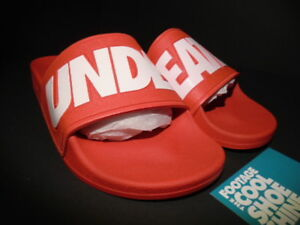 6c8eb12afce26e Image is loading UNDEFEATED-SLIDE-SLIDES-SLIPPERS-FLIP-FLOPS-RED-WHITE-