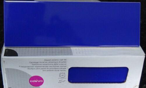 27pcs UTOPIA GLOSSY BABY BLUE GLAZED CERAMIC WALL TILE BRICK BORDER 30x10cm