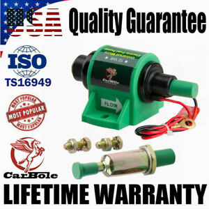 Universal Electric Fuel Pump 12V 4-7 Psi Petrol Diesel Oil Delivery