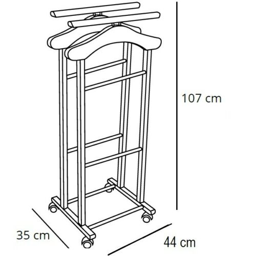 Art 104 Clever Arredamenti Italia Indossatore in legno