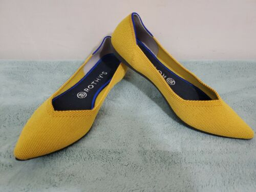 Rothys Points Sz 9 Marigold  Yellow Pointed Toe