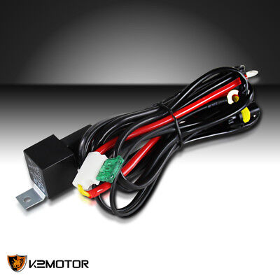 X AUTOHAUX Universal HID Relay Wiring Harness Single Beam Kit 9005 for Car