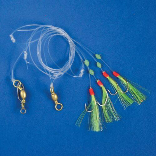 Kinetic DF Herings-Vorfach 3 Makrele Paternoster Meeresangeln Hochsee Beifänger