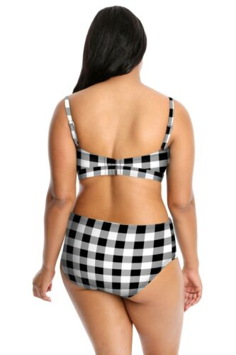 New Lysa Women/'s Plus Size Bikini Swimsuit 2pc Set 0X 1X 2X 3X  Tyra Gingham