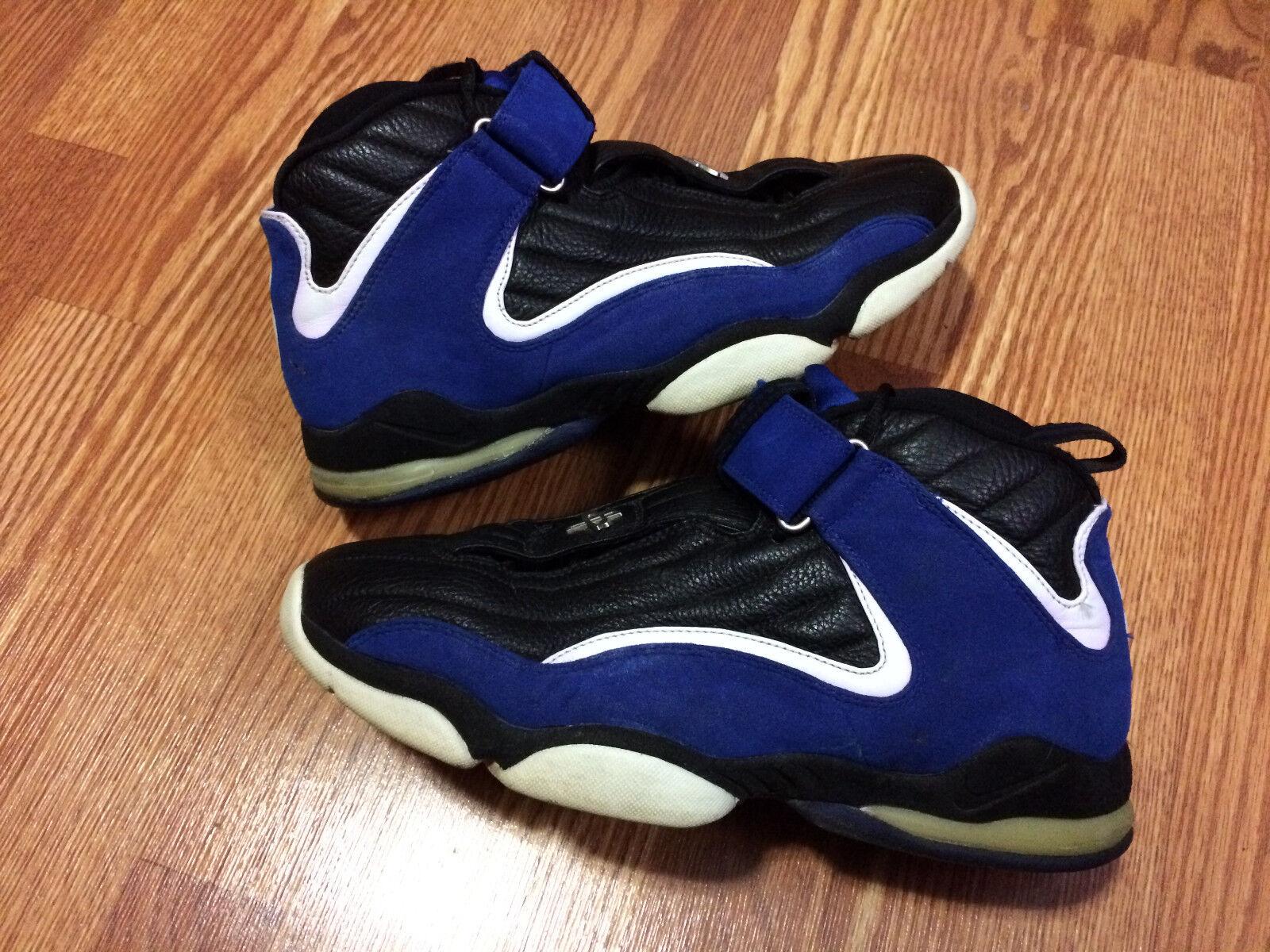Nike air max penny 4 schwarz, blau verwendet - weiße sz 12 verwendet blau foamposite schaumstoffe 1 2 3 5de49c