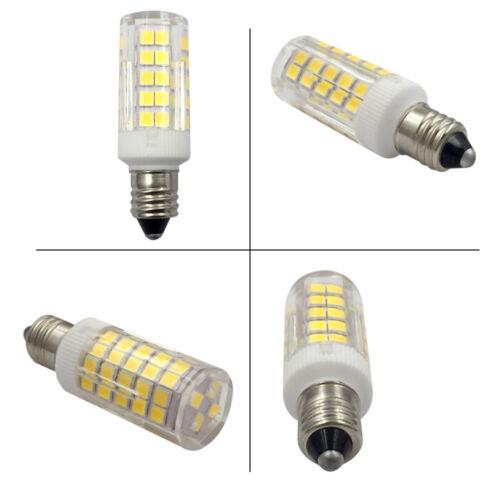 6pcs E11 Mini Base Led Light Bulb 64-2835SMD 5W 110V Ceramics Light Daylight H