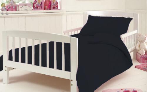 Cot Bed Duvet Quilt Cover Set With Pillow Case 200 Thread Count 100/% Cotton