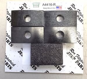 Jeep-Military-Willys-MB-Ford-GPW-A4416-R-Body-Mounting-Rubber-Pad-Set-G503
