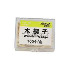 New 100 Pcsbox Dental Natural Interdental Wooden Wedges Middle Size Wood Wedge