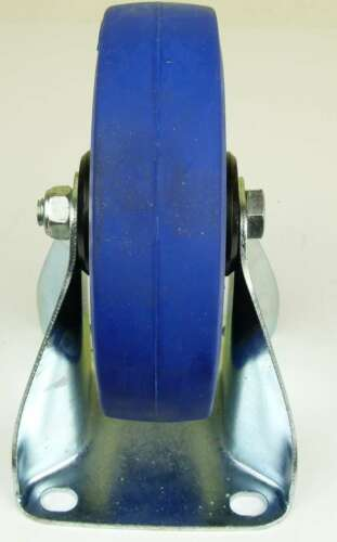 3 Set SL 160 mm Schwerlast Rollen Blue Wheel Bockrollen Transportrollen Bremse
