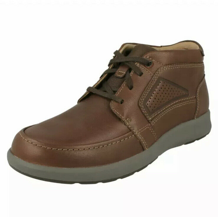 Clarks Un Trail Limit Mens Unstructured Smart Leather Ankle Boots Size UK 7.5 G