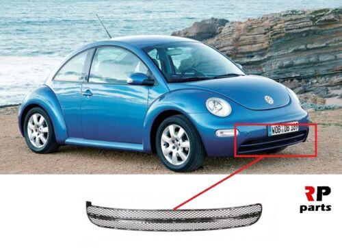 VW Beetle 1998-2005 Parachoques Delantero Rejilla inferior Centro Negro sin Foglight agujero