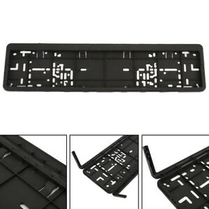 1 X European License Plate Frame Plastic Trim Surround Tag