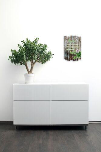 Thymian Kräuter Gewürz Bild Shabby aus Holz Wand Deko für Küche 30x20cm