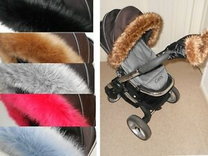 Pram Fur Hood Trim Attachment For Pushchair Compatible with Maxi Cosi