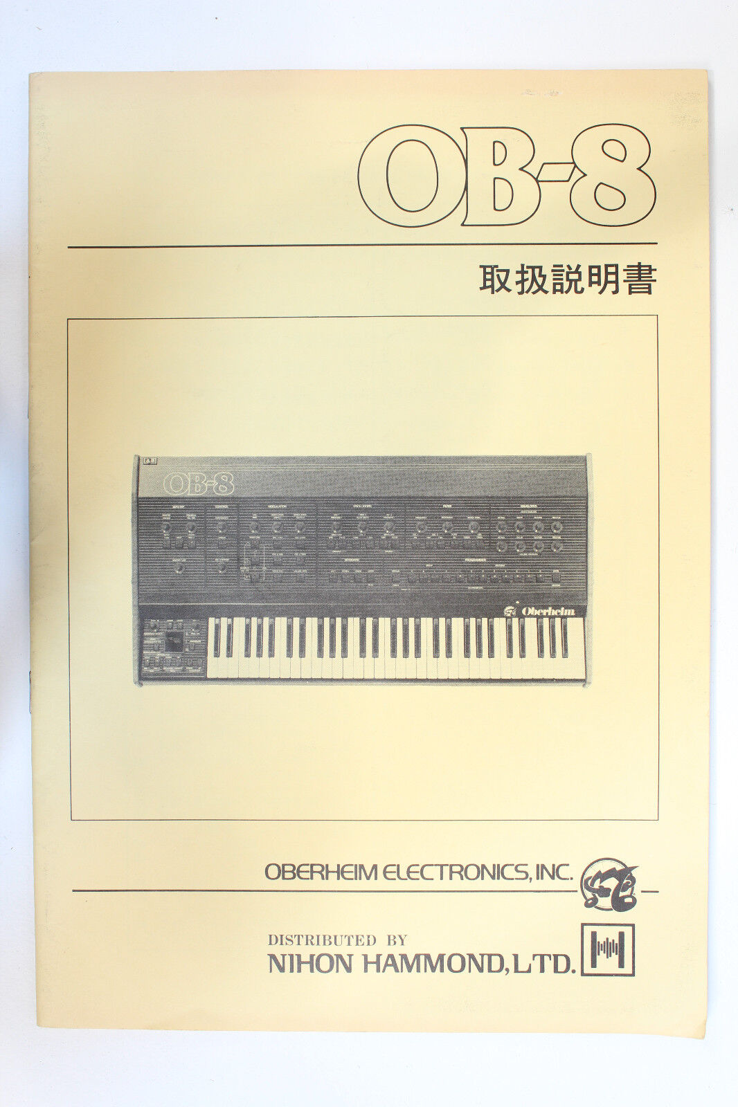 Original Oberheim OB-8 Owner's Manual OB8 (japanische Version)