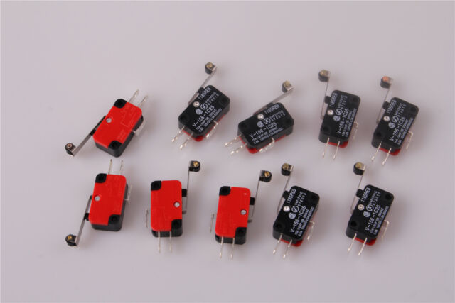 V-156-1C25 MICRO SWITCH SPDT HINGE ROLLER LEVER 15A DC AC 10Pcs From US