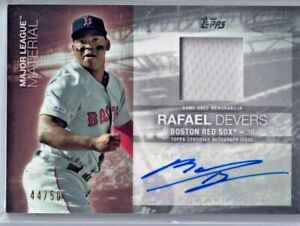 2020 Topps Update Rafael Devers Autograph Materials RED /50