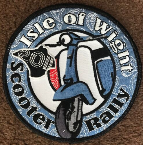 FREE POST IOW ISLE OF WIGHT 2011 EMBROIDERED SCOOTER PATCH LAST FEW REMAINING
