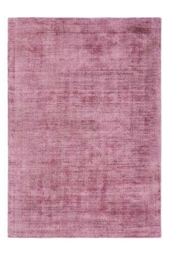 Handgefertigter Flach Teppich Viskose Uni Teppich Baumwolle Puderrosa 80x150cm