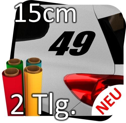 2x 15cm Nummern frei wählbar Startnummer Auto Autoaufkleber Rallynummer No.25