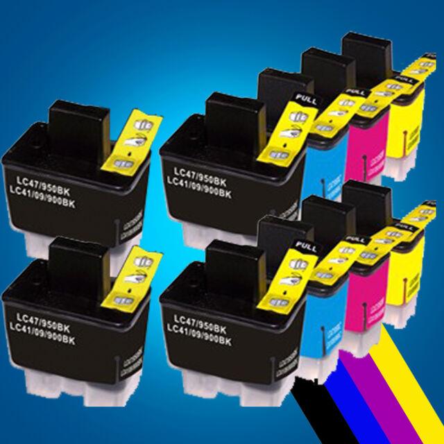 10 Ink Cartridges LC900 LC950 lc900bk lc900c lc900m lc900y for Brother Printer 2