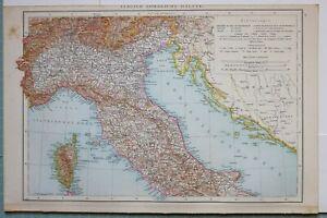 Toscana Umbria Cartina.1881 Mappa Nord Italia Corsica Toscana Umbria Venezia Lombardia Piemonte Ebay
