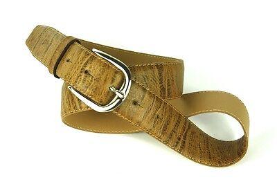 Modesto G1-23 Unisex Basic Cintura Pantaloni Cintura Pelle Genarbtes Marrone Briccino 95 Cm Nuovo-mostra Il Titolo Originale