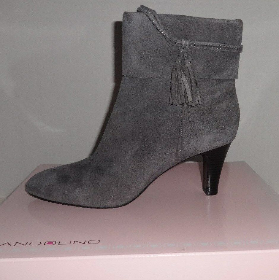 NEW WOMENS BANDOLINO WILLARIA ANKLE SUEDE FASHION BOOTS GRAY  9   9 1/2M 1200317