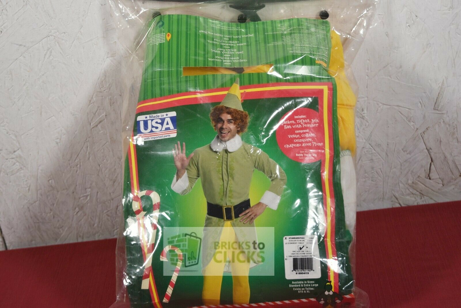 Rubies 880419 Buddy the Elf Adult Mens Costume