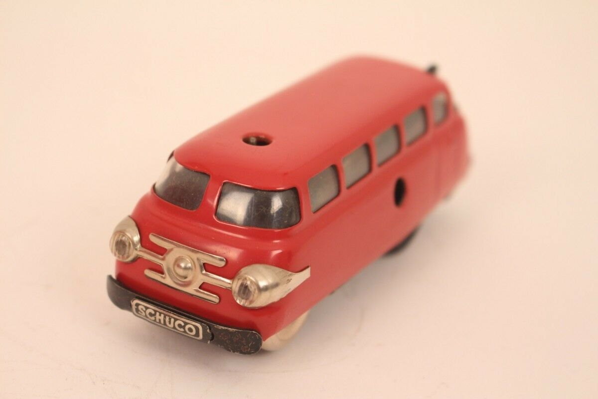 Schuco Varianto Bus 3044 Bus Tin Car Red Western Germany Tin Toy