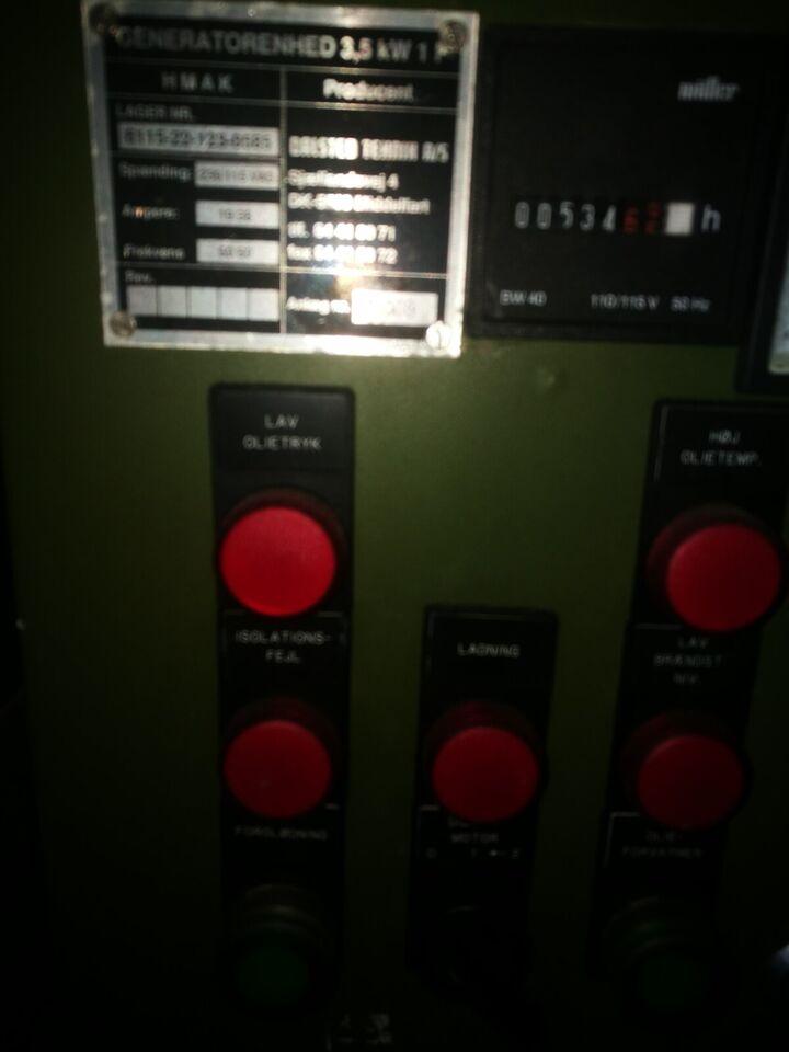 Militær generator 3.5 diesel