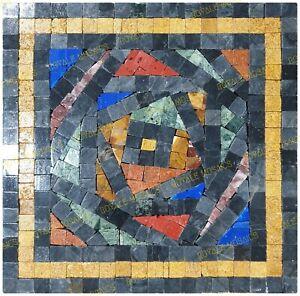 squaero marble mosaic colorful handmade artwork design for walls floora & tables