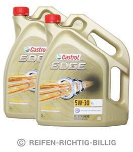 Castrol Edge Titanium FST LL 5W-30 15669E Motor-Öl 10 Liter 2x5L Liter 10L