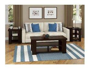 Details about Coffee Table Contemporary Home Living Room Furniture Wood  Dark Brown Decoration