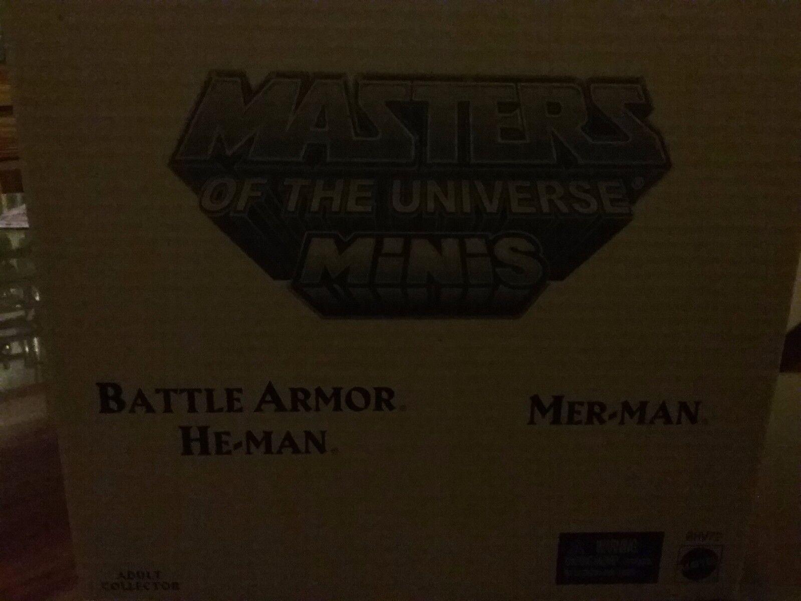 Mattel MOTU Minis Battle Armor He-man & Merman  NEW  Ship Worldwide